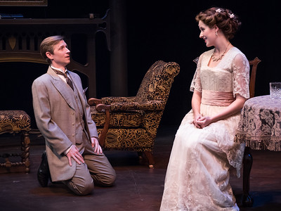 Jeremy Beck and Emma Geer in HINDLE WAKES by Stanley Houghton, directed by Gus Kaikkonen. Photo by Todd Cerveris.