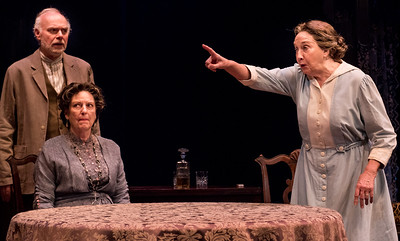 Ken Marks, Jill Tanner and Sandra Shipley in HINDLE WAKES by Stanley Houghton, Directed by Gus Kaikkonen. Photo by Todd Cerveris.