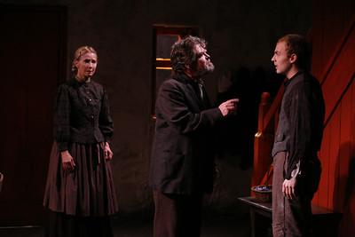 Joyce Cohen, Robertson Carricart and Justin Schultz in JOHN FERGUSON by St. John Ervine  Photo: Richard Termine