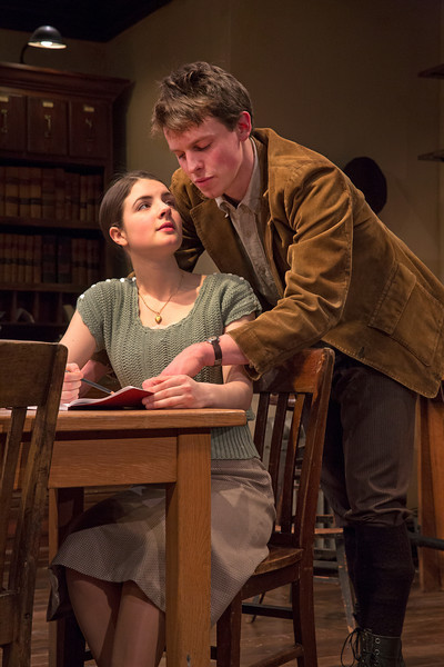 Elise Kibler and Christopher Sears in LONDON WALL by John Van Druten.  Photo: Richard Termine