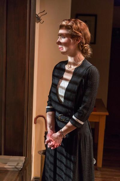 Julia Coffey in LONDON WALL by John Van Druten. <br /> Photo: Richard Termine