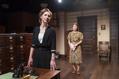 Julia Coffey and Elise Kibler in LONDON WALL by John Van Druten.  Photo: Richard Termine