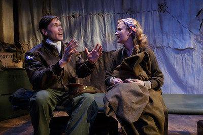 Thomas Matthew Kelley and Heidi Armbruster in LOVE GOES TO PRESS by Martha Gellhorn and Virginia Cowles    Photo: Richard Termine
