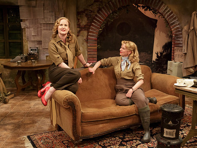 Heidi Armbruster and Angela Pierce in LOVE GOES TO PRESS by Martha Gellhorn and Virginia Cowles   Photo: Richard Termine