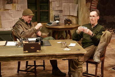 Jay Patterson and Curzon Dobell in LOVE GOES TO PRESS by Martha Gellhorn and Virginia Cowles    Photo: Richard Termine