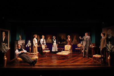 Roderick Hill, Julie Jesneck, Katie Fabel, Janie Brookshire, Kristin Griffith, Graeme Malcolm and Rod Brogan in MARY BROOME by Allan Monkhouse  Photo: Carol Rosegg Photography