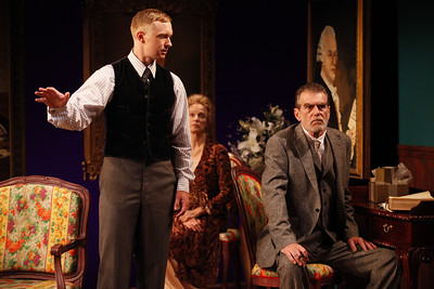 Roderick Hill, Kristin Griffith and Graeme Malcolm in MARY BROOME by Allan Monkhouse  Photo: Carol Rosegg Photography
