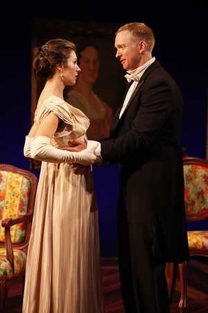 Janie Brookshire and Roderick Hill in MARY BROOME by Allan Monkhouse  Photo: Carol Rosegg Photography