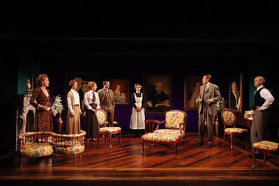 Kristin Griffith, Julie Jesneck, Katie Fabel, Rod Brogan, Janie Brookshire, Graeme Malcolm and Roderick Hill in MARY BROOME by Allan Monkhouse  Photo: Carol Rosegg Photography
