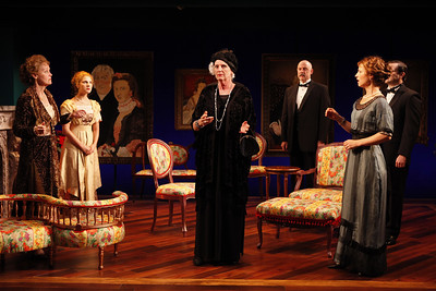 Kristin Griffith, Katie Fabel, Jill Tanner, Douglas Rees, Julie Jesneck and Rod Brogan in MARY BROOME by Allan Monkhouse  Photo: Carol Rosegg Photography