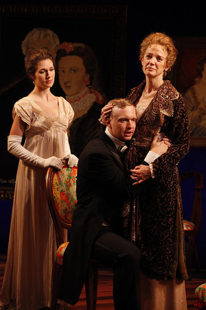 Janie Brookshire, Roderick Hill and Kristin Griffith in MARY BROOME by Allan Monkhouse  Photo: Carol Rosegg Photography