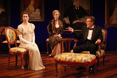 Janie Brookshire, Kristin Griffith and Graeme Malcolm in MARY BROOME by Allan Monkhouse  Photo: Carol Rosegg Photography