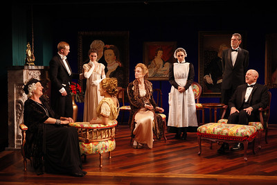 Jill Tanner, Roderick Hill, Janie Brookshire, Katie Fabel, Kristin Griffith, Erica Swindell, Graeme Malcolm and Douglas Rees in MARY BROOME by Allan Monkhouse  Photo: Carol Rosegg Photography