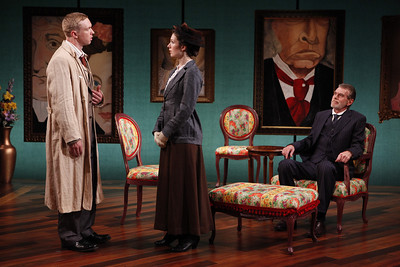 Roderick Hill, Janie Brookshire and Graeme Malcolm in MARY BROOME by Allan Monkhouse  Photo: Carol Rosegg Photography