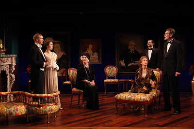 Roderick Hill, Janie Brookshire, Jill Tanner, Kristin Griffith, Rod Brogan and Graeme Malcolm in MARY BROOME by Allan Monkhouse  Photo: Carol Rosegg Photography