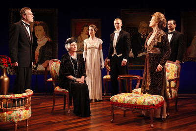 Graeme Malcolm, Jill Tanner, Janie Brookshire, Roderick Hill, Kristin Griffith and Rod Brogan in MARY BROOME by Allan Monkhouse  Photo: Carol Rosegg Photography