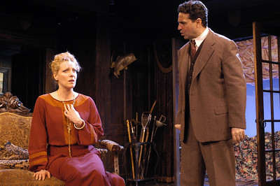 Lisa Bostnar and Stephen Schnetzer in MR. PIM PASSES BY by A.A. Milne  Photo: Richard Termine