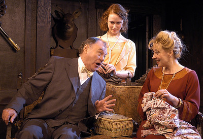 Jack Davidson, Victoria Mack and Lisa Bostnar in MR. PIM PASSES BY by A.A. Milne  Photo: Richard Termine