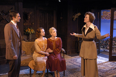 James Knight, Victoria Mack, Lisa Bostnar and Kristin Griffith in MR. PIM PASSES BY by A.A. Milne  Photo: Richard Termine