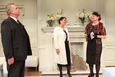 Cliff Bemis, Christine Toy Johnson, and Carole Healey in PHILIP GOES FORTH by George Kelly.  Photo: Rahav Segev/Photopass.com