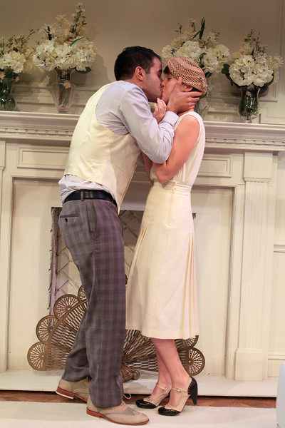 Bernardo Cubría and Natalie Kuhn in PHILIP GOES FORTH by George Kelly.<br /> Photo: Rahav Segev/Photopass.com