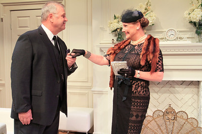 Cliff Bemis and Carole Healey in PHILIP GOES FORTH by George Kelly.  Photo: Rahav Segev/Photopass.com