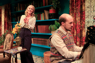 Rachel Moulton and Brian Keith MacDonald in PHILIP GOES FORTH by George Kelly.  Photo: Rahav Segev/Photopass.com