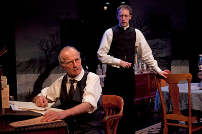 Robert Hogan and James Patrick Nelson in RUTHERFORD & SON by Githa Sowerby Photo: Richard Termine