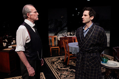 Robert Hogan and Eli James in RUTHERFORD & SON by Githa Sowerby Photo: Richard Termine
