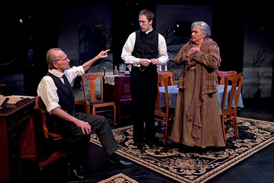 Robert Hogan, James Patrick Nelson and Dale Soules in RUTHERFORD & SON by Githa Sowerby Photo: Richard Termine
