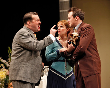 Allen Lewis Rickman, Anna Chlumsky and Kevin O'Donnell in SO HELP ME GOD! by Maurine Dallas Watkins  Photo: Richard Termine