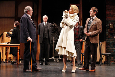 Amy Fitts, Brad Bellamy, John Windsor-Cunnigham, Kristen Johnston, Jeremy Lawrence (partial) and Ned Noyes in SO HELP ME GOD! by Maurine Dallas Watkins  Photo: Richard Termine