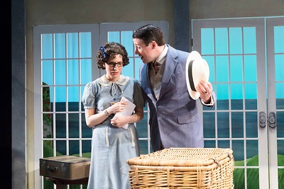 Sarah Nicole Deaver & Ryan Colin in HOLIDAY HOUSE by Teresa Deevy. Directed by Jonathan Bank. Photo: Richard Termine.
