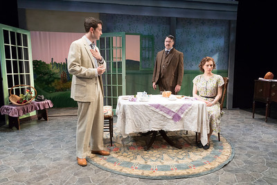 A.J. Shively, Colin Ryan & Sarah Nicole Deaver in IN THE CELLAR OF MY FRIEND by Teresa Deevy. Directed by Jonathan Bank. Photo: Richard Termine.