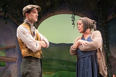 A.J. Shively & Cynthia Mace in THE KING OF SPAIN'S DAUGHTER by Teresa Deevy. Directed by Jonathan Bank. Photo: Richard Termine.
