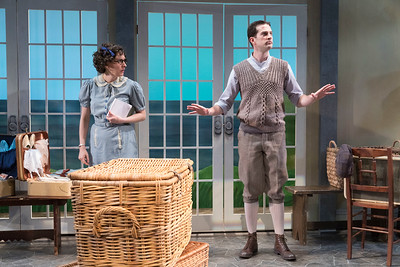 Sarah Nicole Deaver & A.J. Shively in HOLIDAY HOUSE by Teresa Deevy. Directed by Jonathan Bank. Photo: Richard Termine.