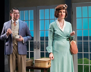 Colin Ryan & Gina Costigan in HOLIDAY HOUSE by Teresa Deevy. Directed by Jonathan Bank. Photo: Richard Termine.