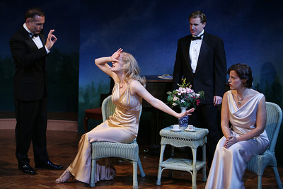 Al Sapienza, Heidi Armbruster, Alex Cranmer and Katie Firth in SUSAN AND GOD by Rachel Crothers  Photo: Richard Termine
