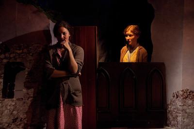 Rosie Benton and Wrenn Schmidt in TEMPORAL POWERS by Teresa Deevy Photo: Richard Termine