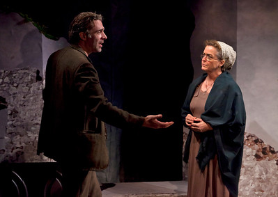 Aidan Redmond and Bairbre Dowling in TEMPORAL POWERS by Teresa Deevy Photo: Richard Termine