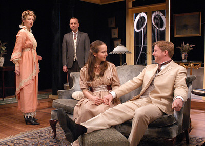 Kristin Griffith, Benjamin Howes, Harmony Schuttler and Karl Kenzler in THE CHARITY THAT BEGAN AT HOME by St. John Hankin  Photo: Richard Termine