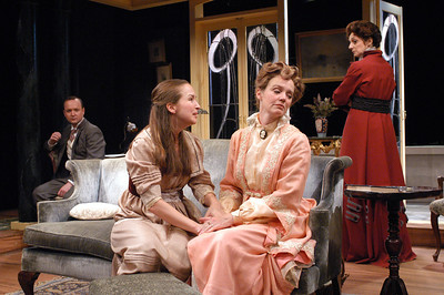 Benjamin Howes, Harmony Schuttler, Kristin Griffith and Becky London in THE CHARITY THAT BEGAN AT HOME by St. John Hankin  Photo: Richard Termine