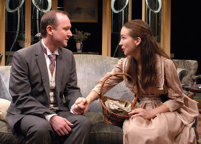 Benjamin Howes and Harmony Schuttler in THE CHARITY THAT BEGAN AT HOME by St. John Hankin  Photo: Richard Termine