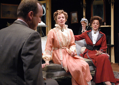 Benjamin Howes, Kristin Griffith, Pauline Tully and Becky London in THE CHARITY THAT BEGAN AT HOME by St. John Hankin  Photo: Richard Termine
