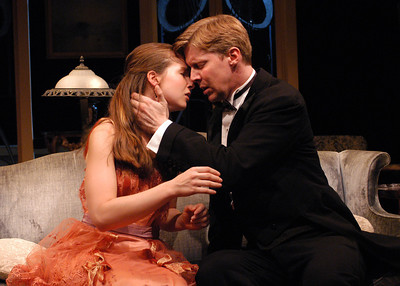 Harmony Schuttler and Karl Kenzler in THE CHARITY THAT BEGAN AT HOME by St. John Hankin  Photo: Richard Termine