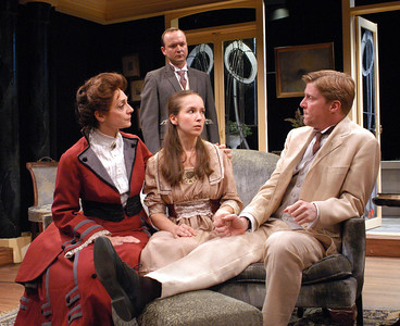 Becky London, Benjamin Howes, Harmony Schuttler and Karl Kenzler in THE CHARITY THAT BEGAN AT HOME by St. John Hankin  Photo: Richard Termine