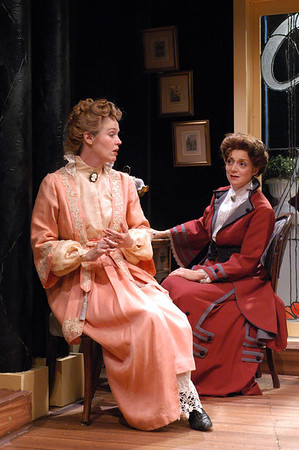 Kristin Griffith and Becky London in THE CHARITY THAT BEGAN AT HOME by St. John Hankin  Photo: Richard Termine