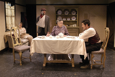 Angela Reed, Peter Russo, Mikel Sarah Lambert and Gareth Saxe in THE DAUGHTER-IN-LAW by D.H. Lawrence  Photo: Richard Termine