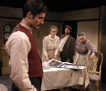 Gareth Saxe, Angela Reed, Peter Russo and Mikel Sarah Lambert in THE DAUGHTER-IN-LAW by D.H. Lawrence  Photo: Richard Termine