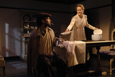 Peter Russo and Angela Reed in THE DAUGHTER-IN-LAW by D.H. Lawrence  Photo: Richard Termine